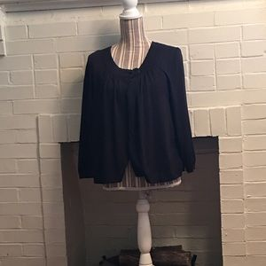 Ann Taylor Women's lined black cape sleeves size L